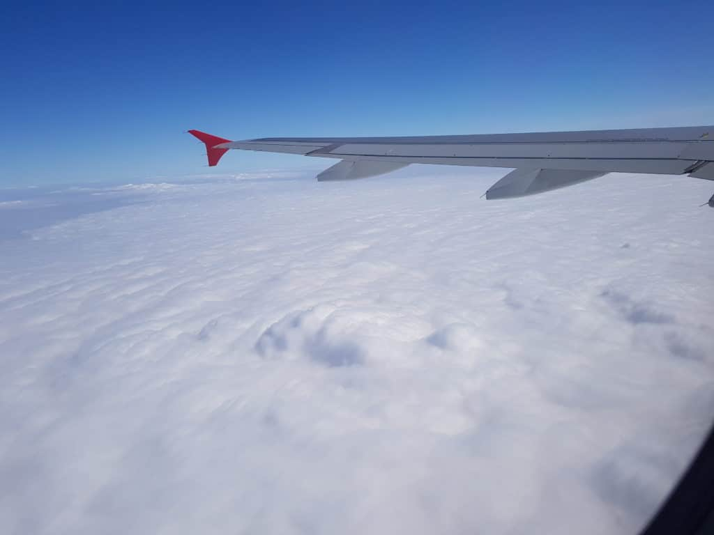 Cloud landscape as seen from plane