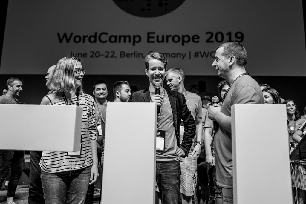WordCamp Europe 2018 and 2019 lead organizers