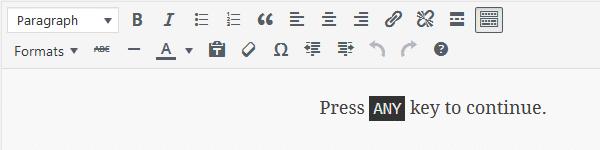 TinyMCE <kbd> Format Inline Style