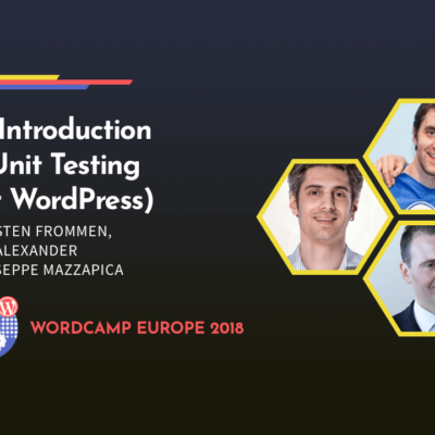 WCEU 2018 Unit Testing Workshop Banner